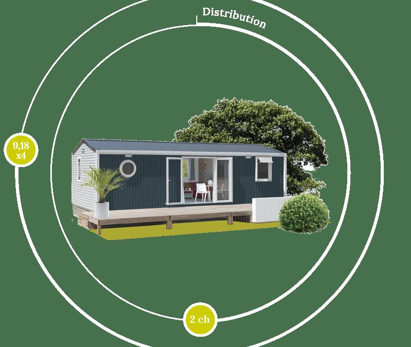O'HARA 914 2CH – Mobil home neuf – Gamme LOCATIVE – NOUVEAUTE 2017