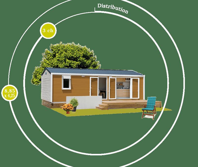 O'HARA 885 3CH – Mobil home neuf – Gamme LOCATIVE – Nouveauté 2017