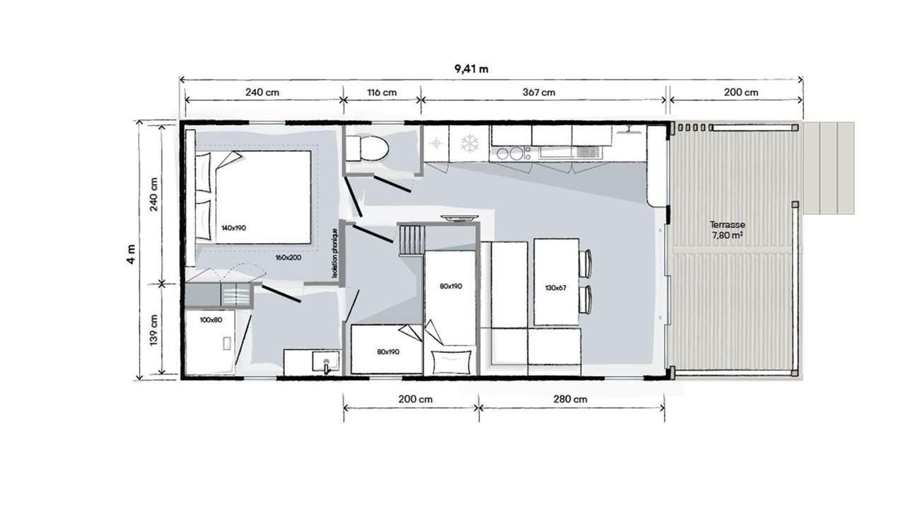 OHARA LIVING - 2021 - Mobil home Neuf - Zen Mobil homes