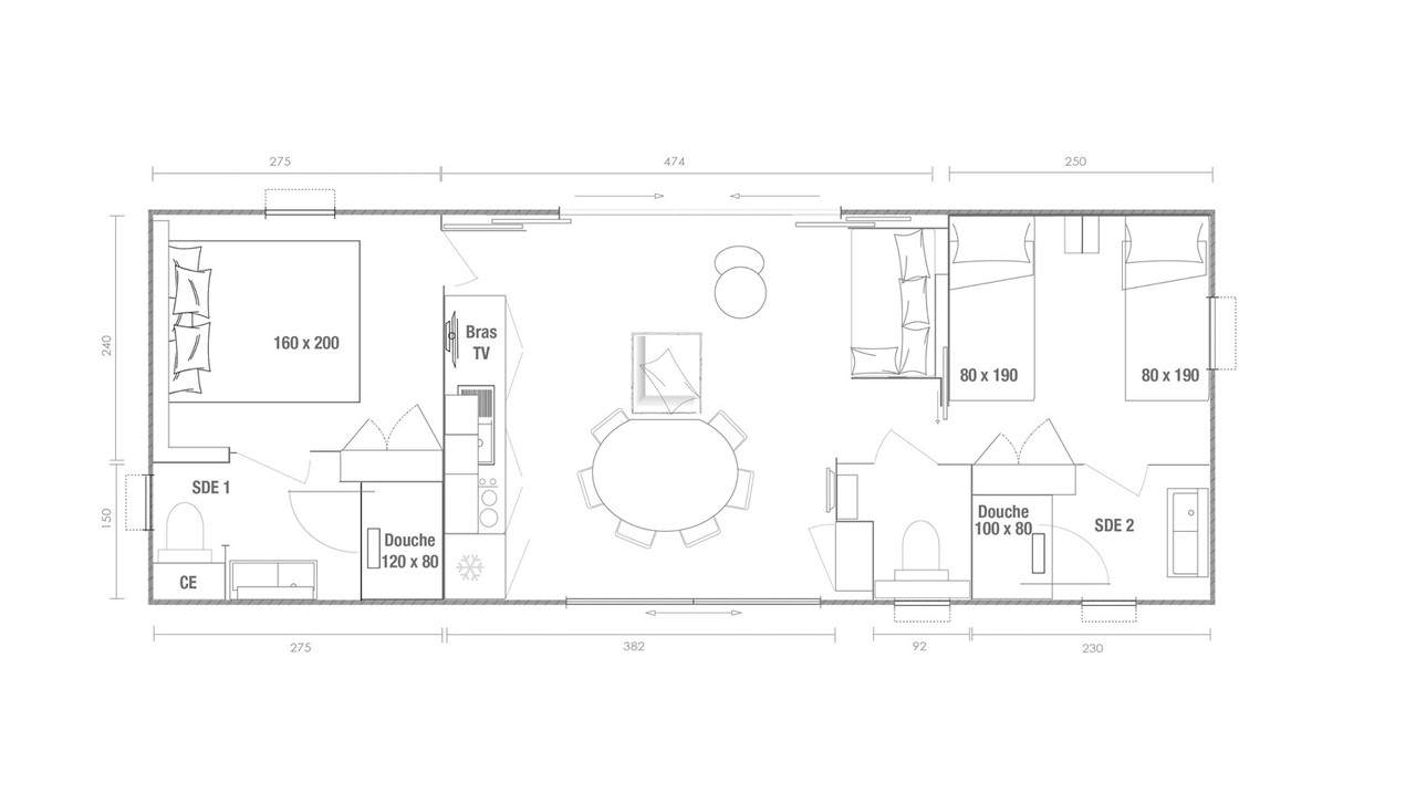 OHARA KEY WEST 2 - 2020 - Mobil home Neuf - Zen Mobil homes