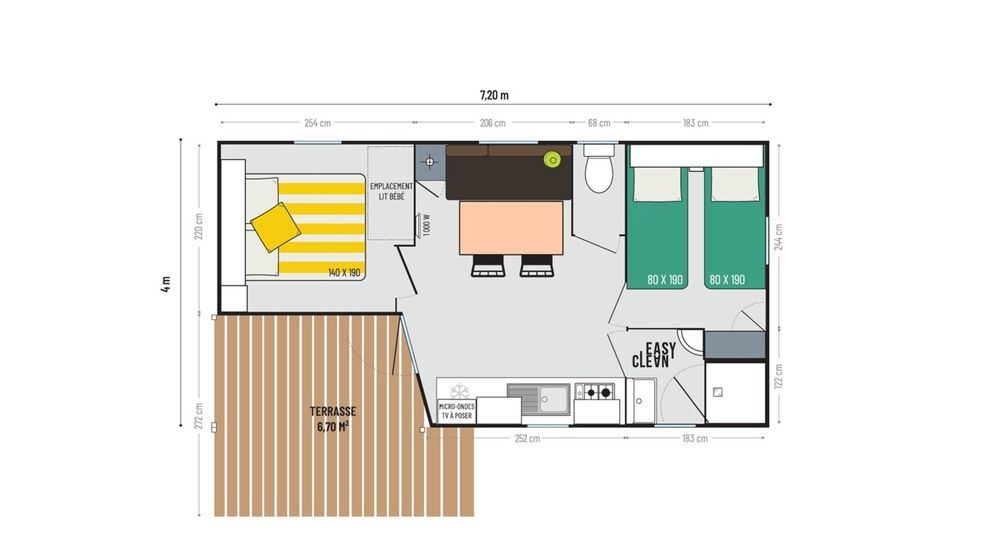 IRM LOGGIA COMPACT- mobil home neuf - 2022 - Zen Mobil homes