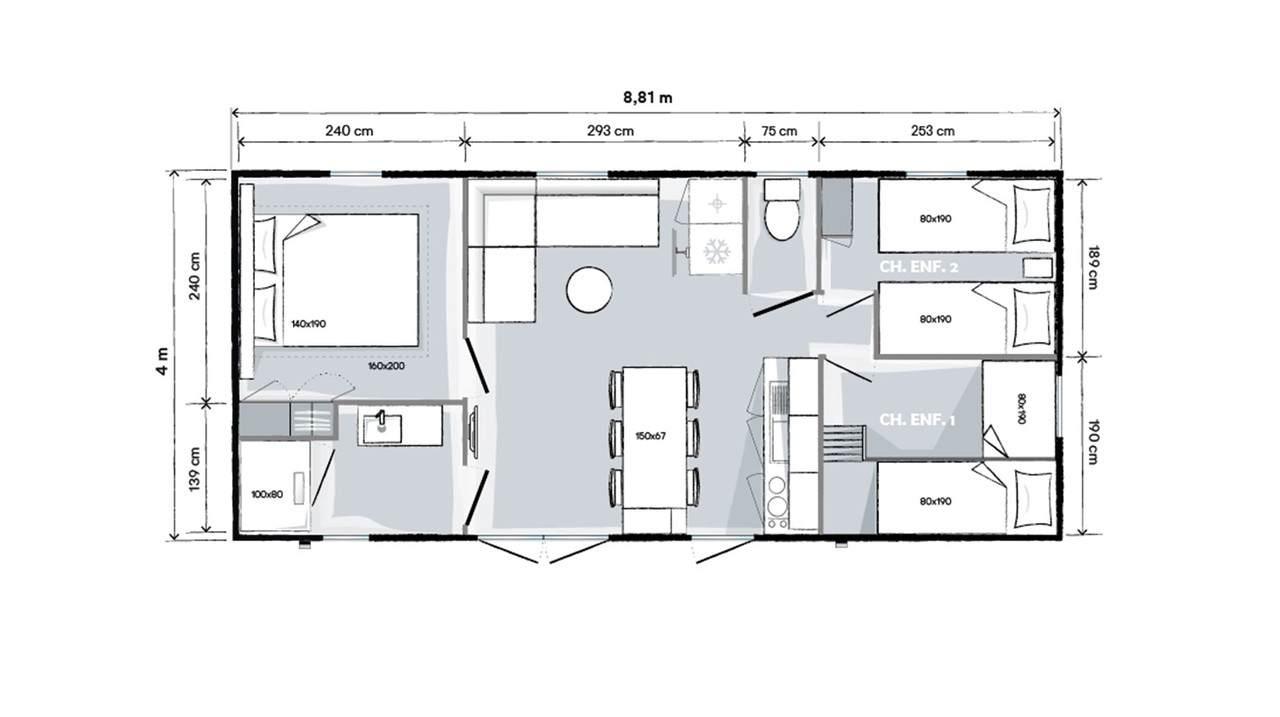 O'HARA 884 3 CH - 2020 - Mobil home Neuf - Zen Mobil homes
