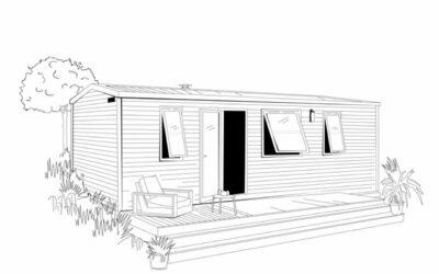OHARA 844 Côté Jardin – 2022 – Mobil home Neuf – 2 Chambres – Nouveauté 2022
