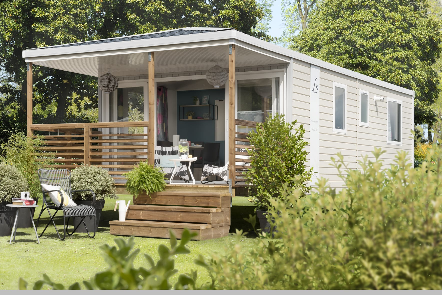 LOUISIANE MEDITERRANEE GRAND AIR - Mobil home neuf - Gamme Vacance - Zen Mobil homes- 2 chambres - Etauliers 33820 - Gironde