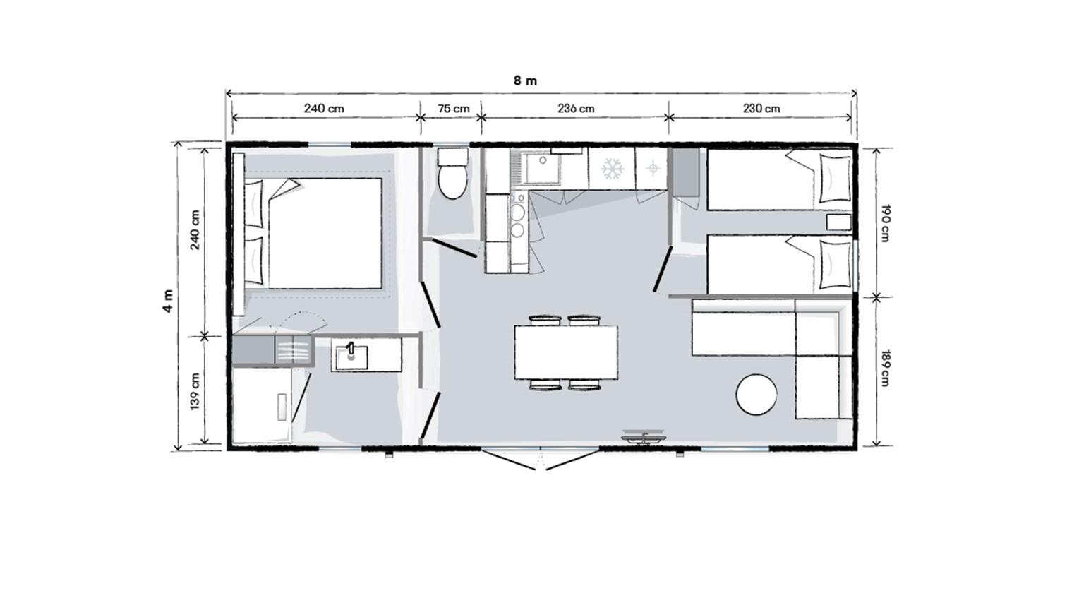 OHARA 804 2CH - 2021 - Mobil home Neuf - Zen Mobil homes