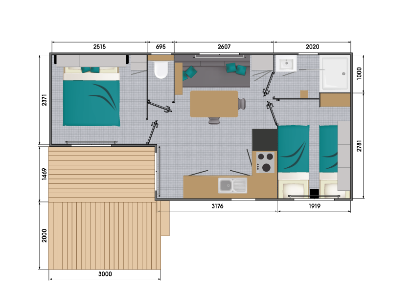 Louisiane Pacifique 2 - Neuf - Vacance - 2021 - Zen Mobil homes