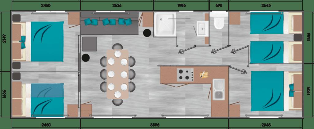 LOUISIANE OMAN - Mobil home neuf - Vacance - 2019 - Zen Mobil homes