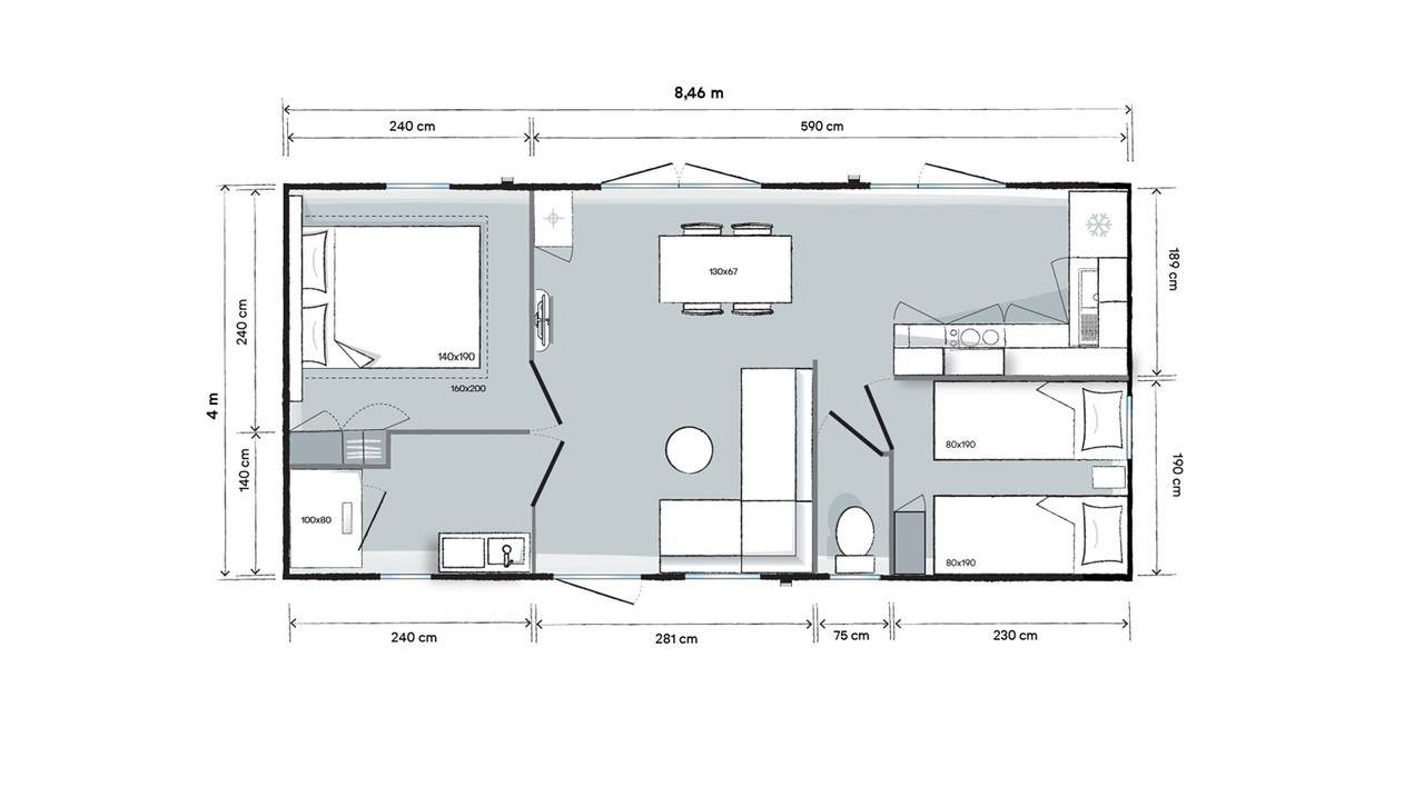 OHARA 844 Côté Jardin - 2021 - Mobil home Neuf - Zen Mobil homes