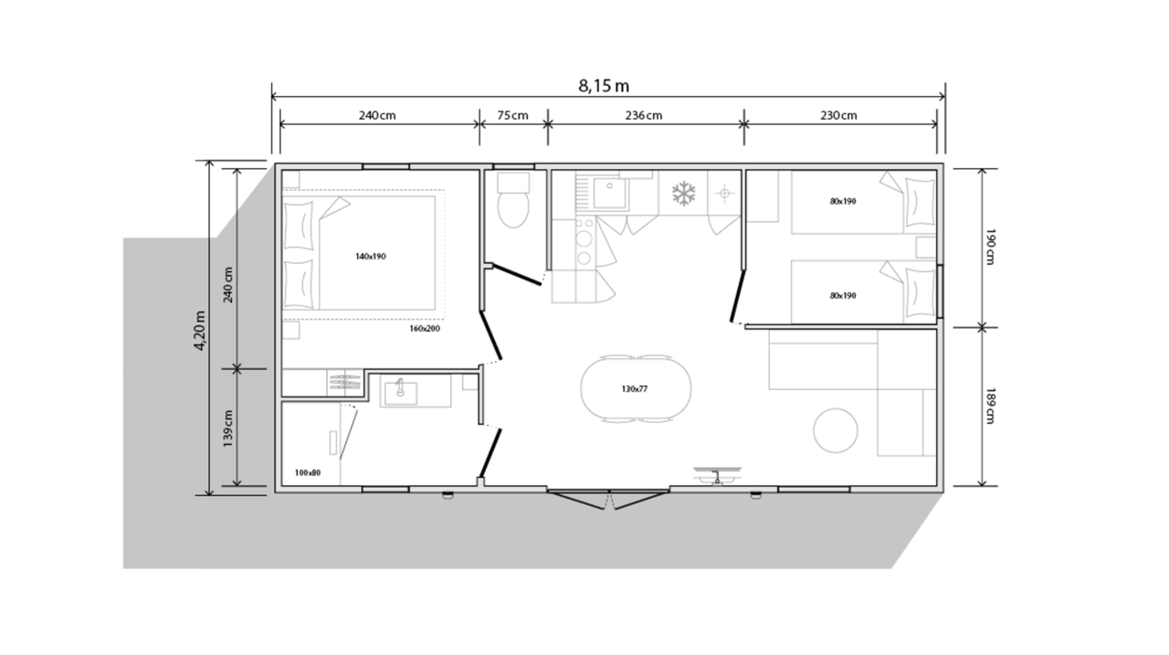 OHARA 804 2CH - 2022 - Mobil home Neuf - Zen Mobil homes