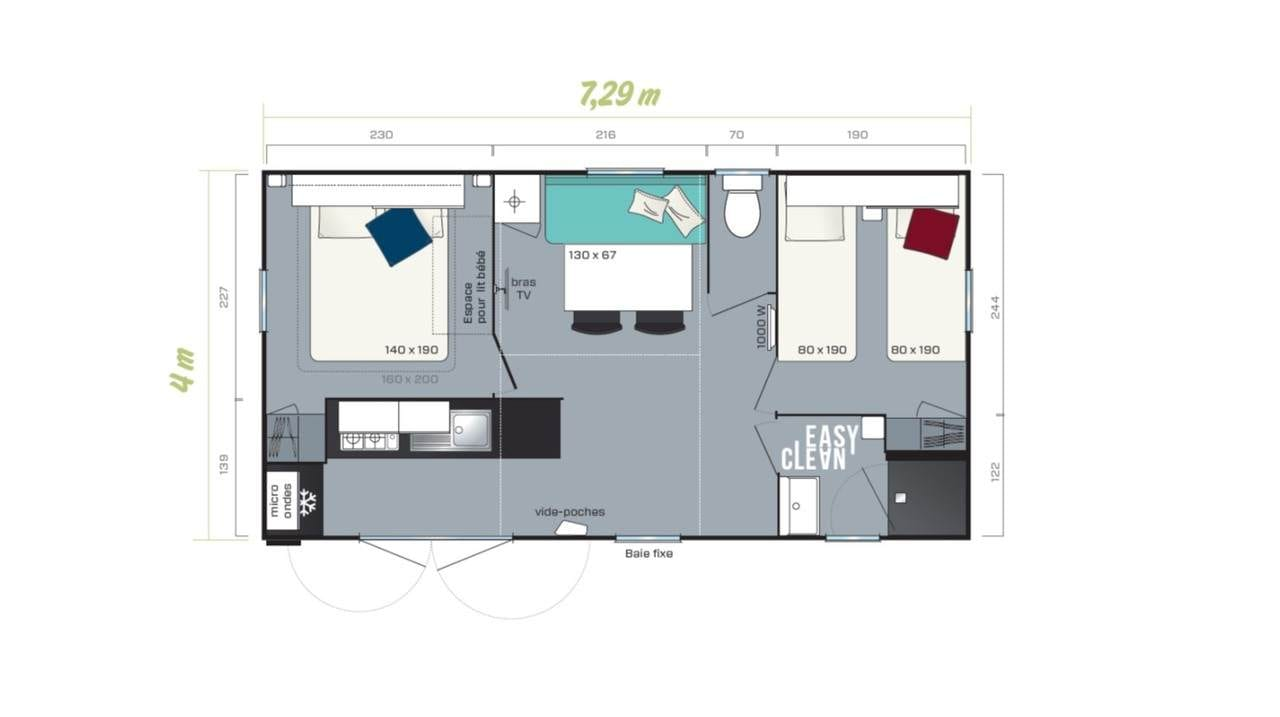 Irm Super Mercure Riviera - 2020 - Mobil home neuf - Zen Mobil homes