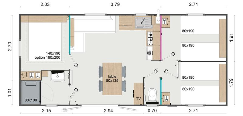 Rapidhome Lodge 83 - Neuf - Locatif - 3 Chambres - Zen Mobil homes