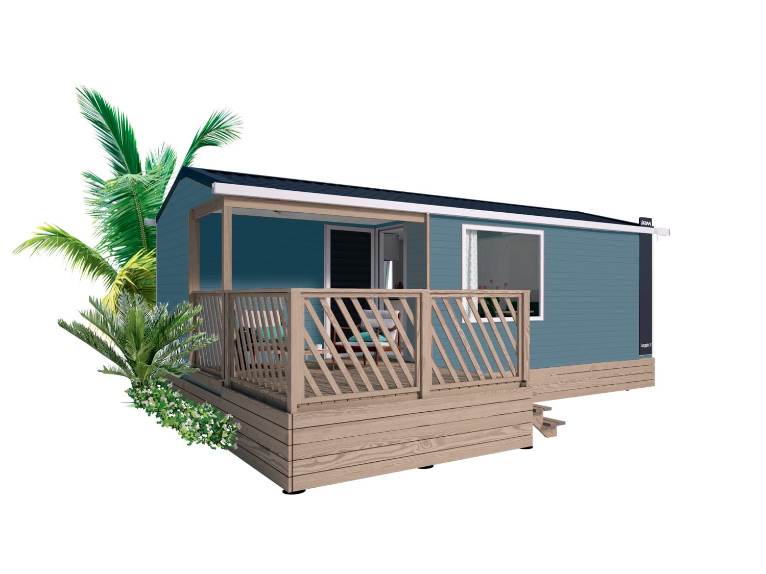 IRM LOGGIA 2 – 2021 – Mobil Home Neuf – Gamme LOGGIA – 2 Chambres – Collection 2021