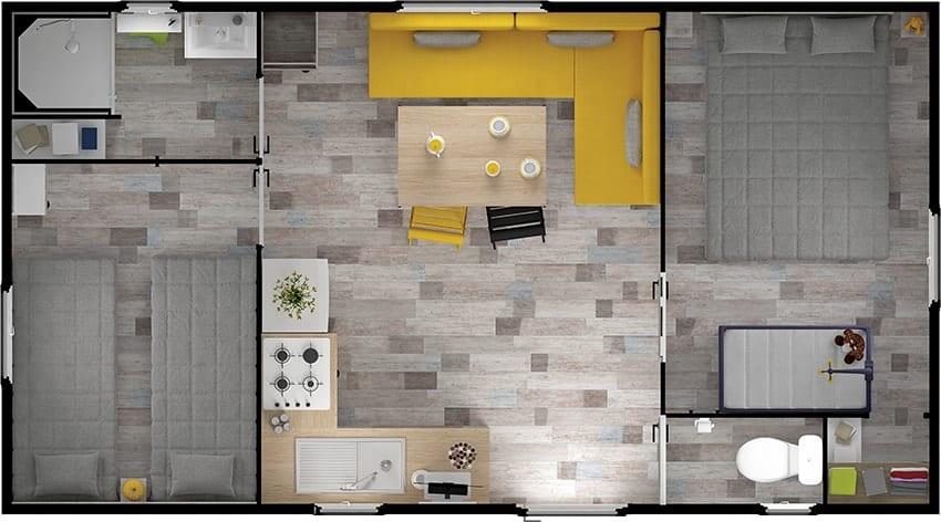 RIDOREV IBIZA DUO - Mobil home neuf - 2018 - Zen Mobil homes