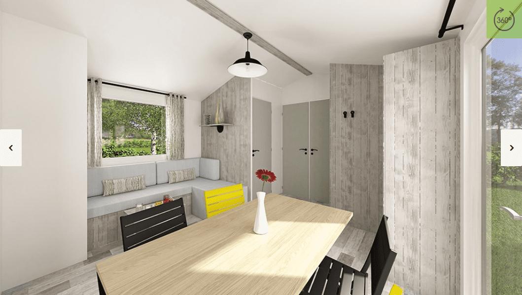 Ridorev bahia trio mobil home neuf 2018 zen mobil homes for Salon du mobil home