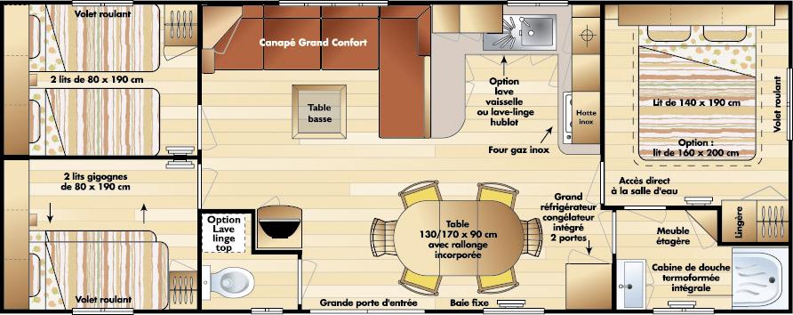 Irm Topaze - 2006 - Mobil home d'occasion - 13 000€ - Zen Mobil homes