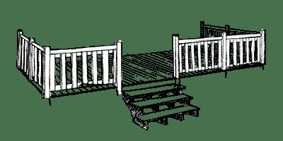 Terrasse Zen 2 - non couverte - 6x2.50m - 1 450€ - Zen Mobilhome