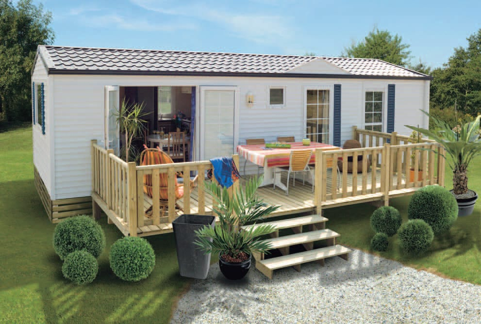 Terrasse Zen - non couverte - 4.50x2.50m - 1 220€ - Zen Mobil homes