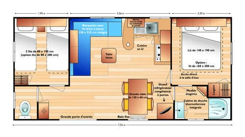 Irm super titania - Mobil home d'occasion - 11 000€ - Zen Mobil homes