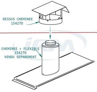 Chemin e flexible 152470 m 3067 pi ce d tach e - Cheminee rene brisach piece detachee ...