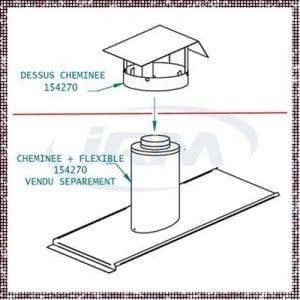 Cheminée + flexible - 152470-M-3067 – toiture – Zen Mobil homes