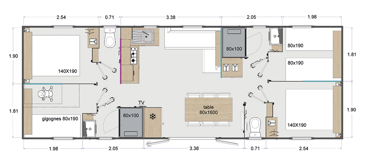 Rapidhome Lodge 1042 - Neuf - Gamme locative - Zen Mobil homes