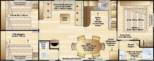 Irm constellation mobil home d 39 occasion 17 500 zen mobil homes - Mobil home 3 chambres occasion ...