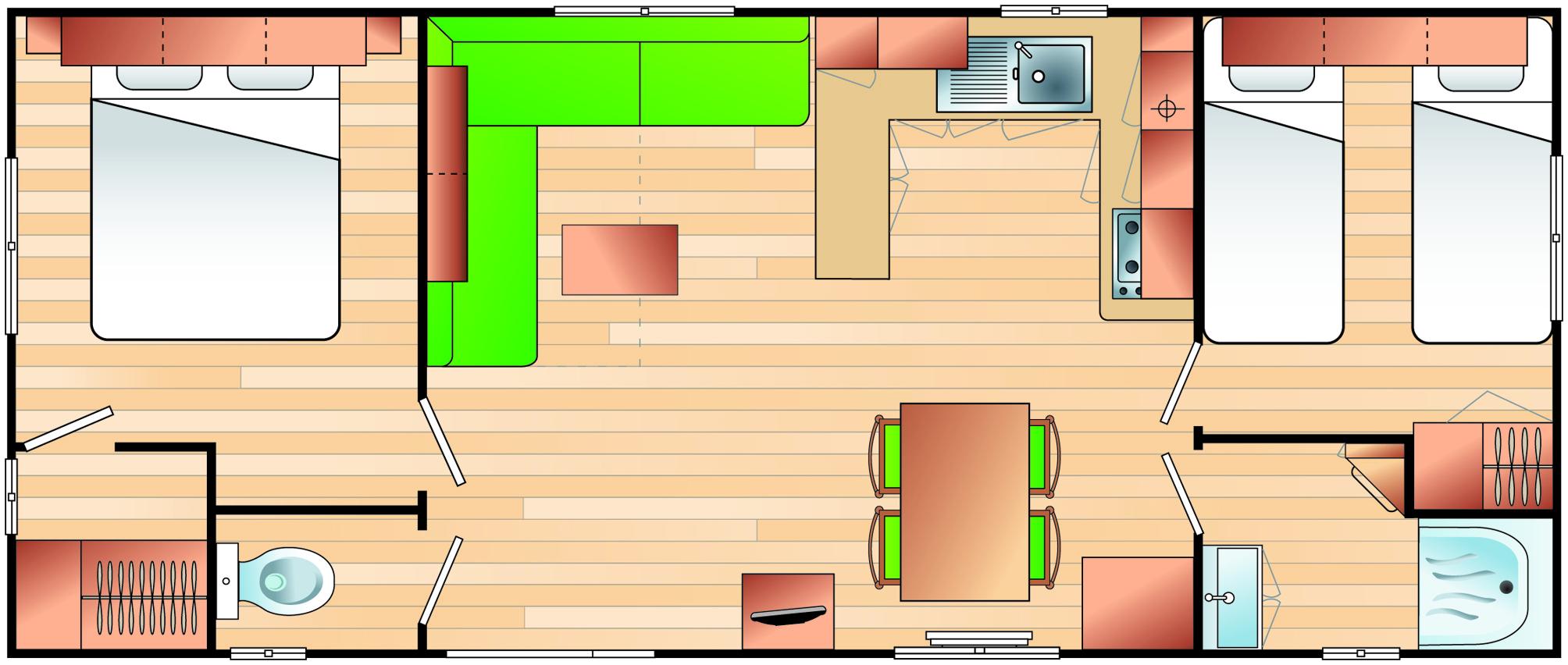 Irm Selenia - 2009 - Mobil home d'occasion - 10 000€ - Zen Mobil homes