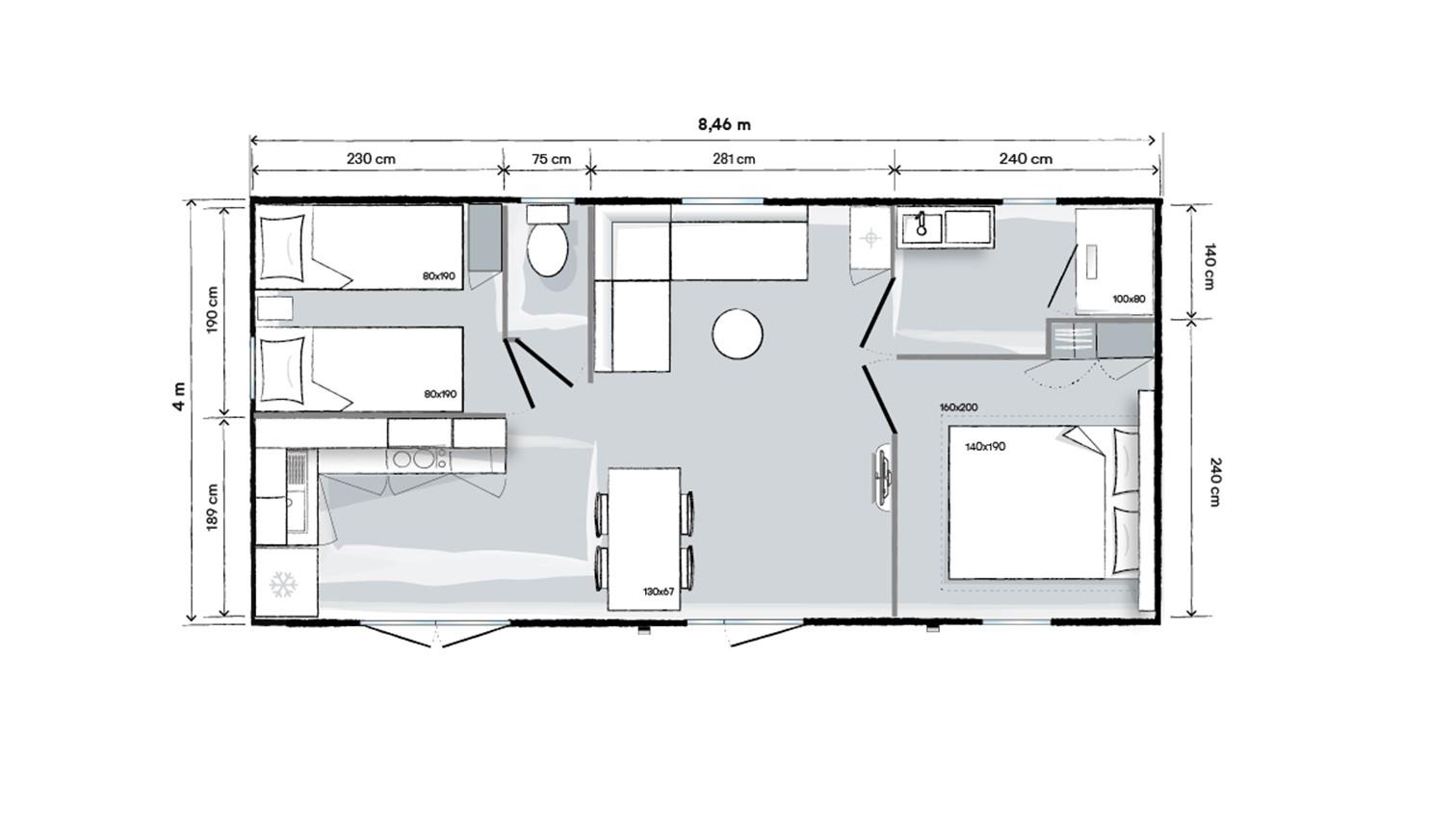 Ohara 844 - 2020 - Mobil home NEUF - 27 500€ - Zen Mobil homes