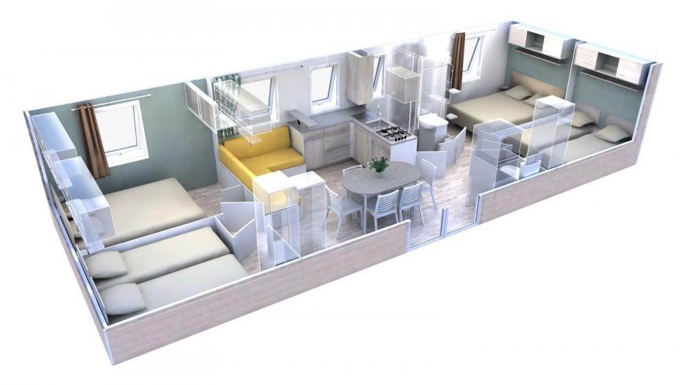 TRIGANO EVO 40 - Mobil home neuf - Evolution 2019 - Zen Mobil homes