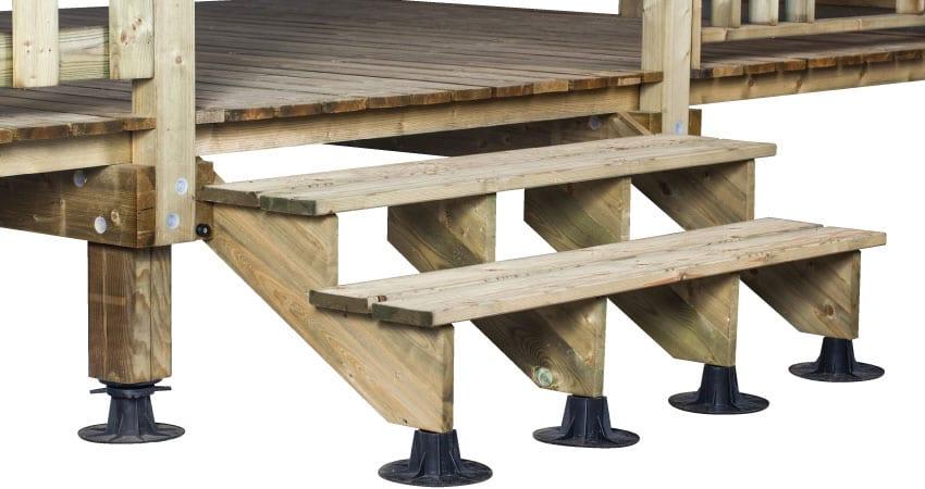 escalier 2 marches bois trait a l 39 unit zen mobil homes. Black Bedroom Furniture Sets. Home Design Ideas
