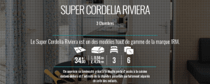 IRM SUPER CORDELIA riviera - Mobilhome neuf - 2018 - Zen Mobil home