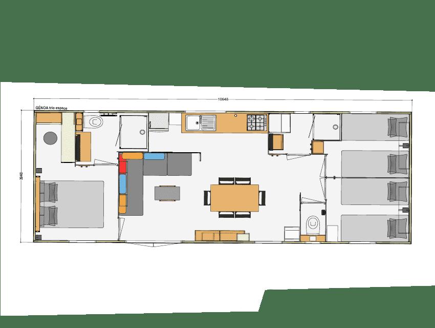 RIDOREV GENOA TRIO - Mobil home neuf - 2020 - Zen Mobil homes