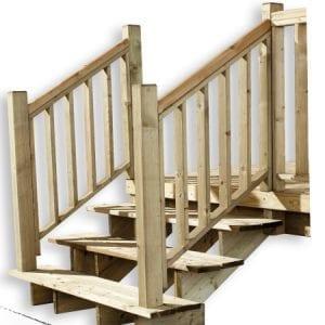 lot 2 rampes - Escalier 3 marches - A l'unité - Zen Mobil homes