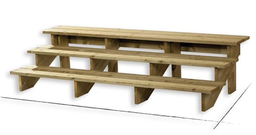 marche pieds 3 marches 1x57cm l 39 unit zen mobil homes. Black Bedroom Furniture Sets. Home Design Ideas