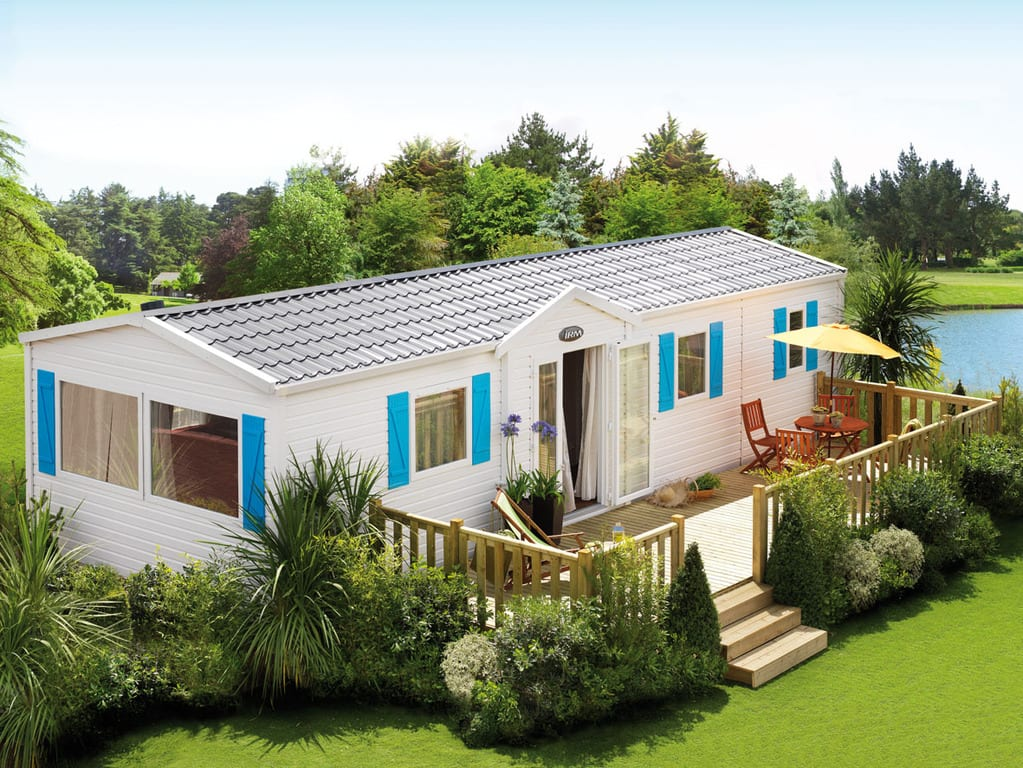 Terrasse Zenidea - Non couverte - 2.50 x 9m - Zen Mobil homes