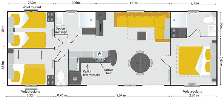 Irm Apollon Riviera - 2015 - Mobil home d'occasion - Zen Mobil homes