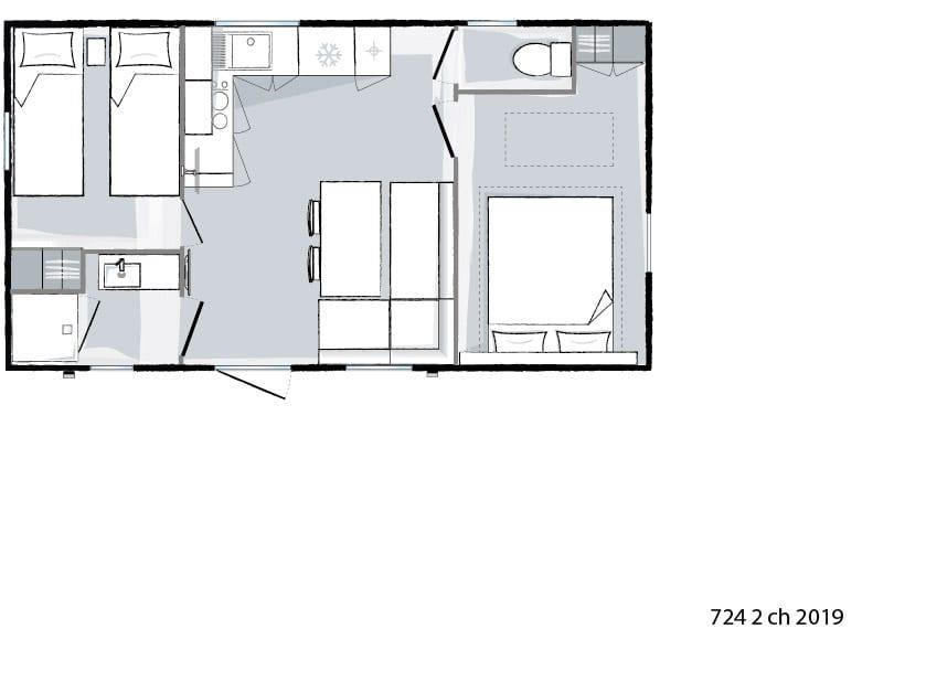 plan intérieur - Ohara 724 - 2019