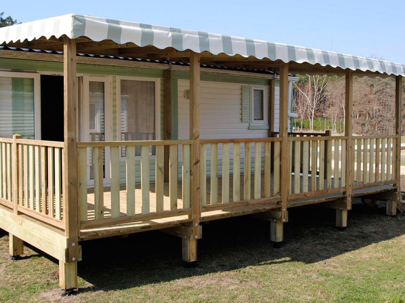 Terrasse Zenespa - 6x3m - Couverte - 3 883€ - Zen Mobil homes