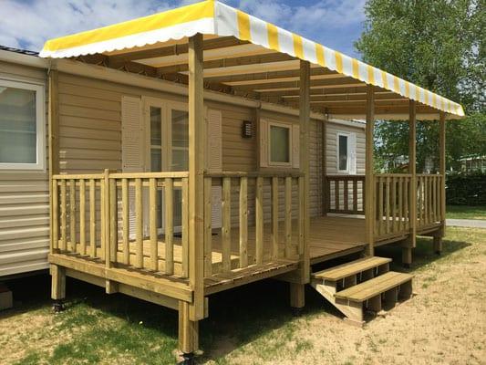 Terrasse Zenespa - 7.50x3m - Couverte - 4 545€ - Zen Mobil homes
