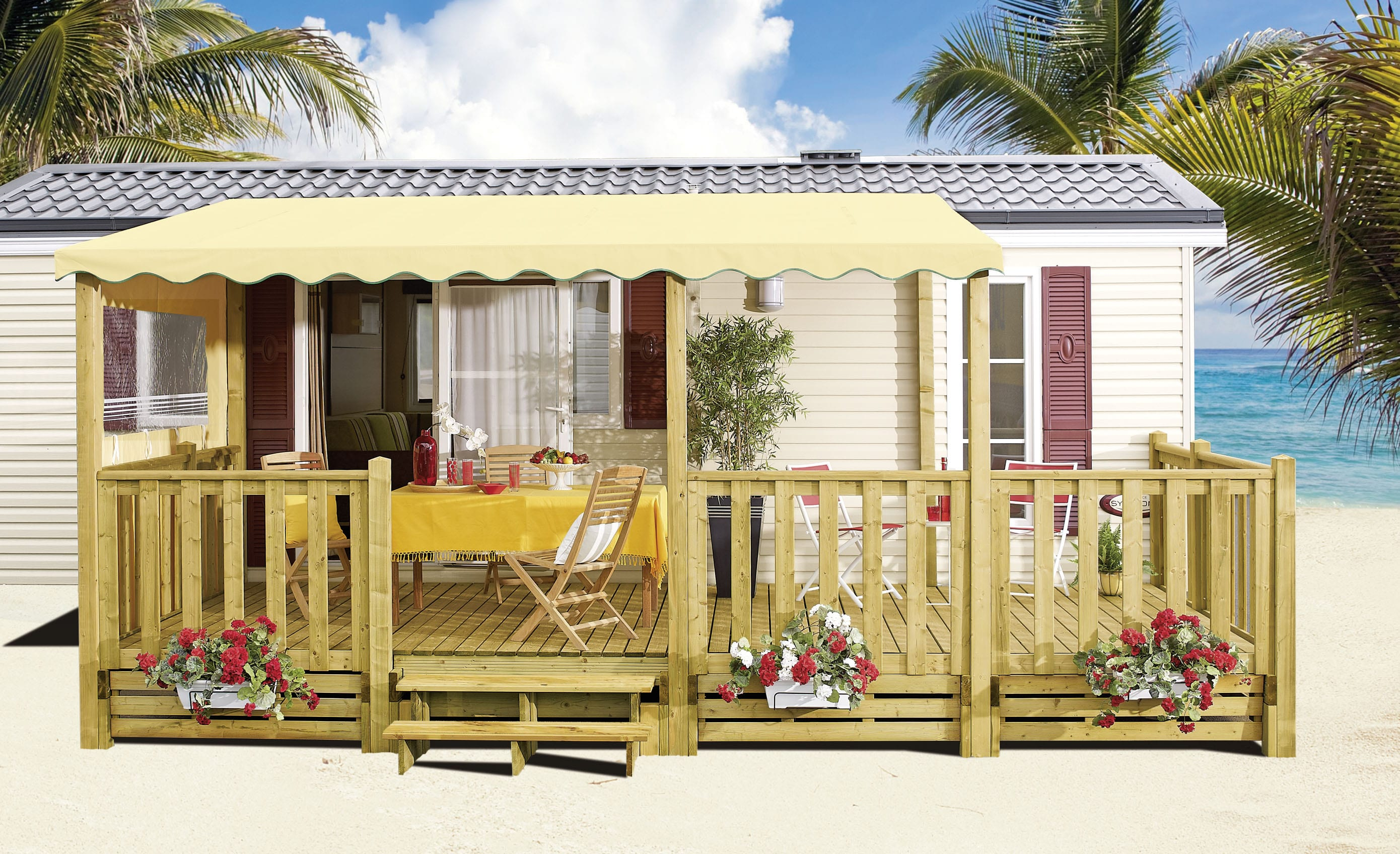 Terrasse Zen - 6x2.50m/3m - 22mm - 2 053€ - Zen Mobil homes