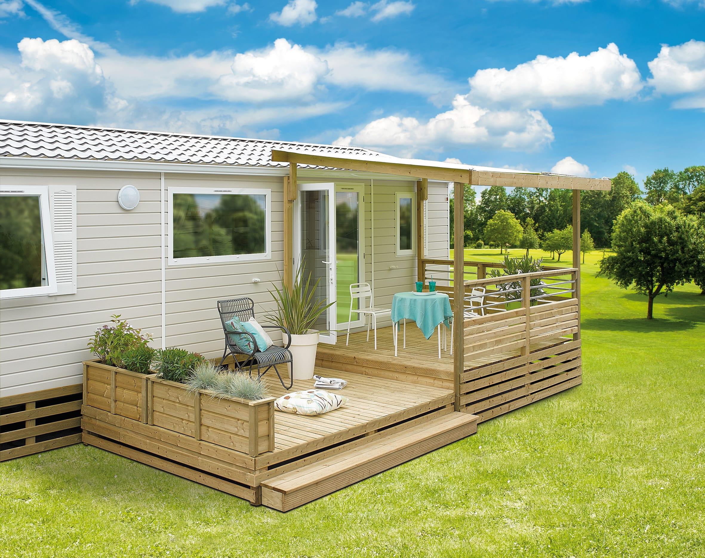 Terrasse Zenconfort - 7.50x2.50m/4.50m - 3 671€ - Zen Mobil homes