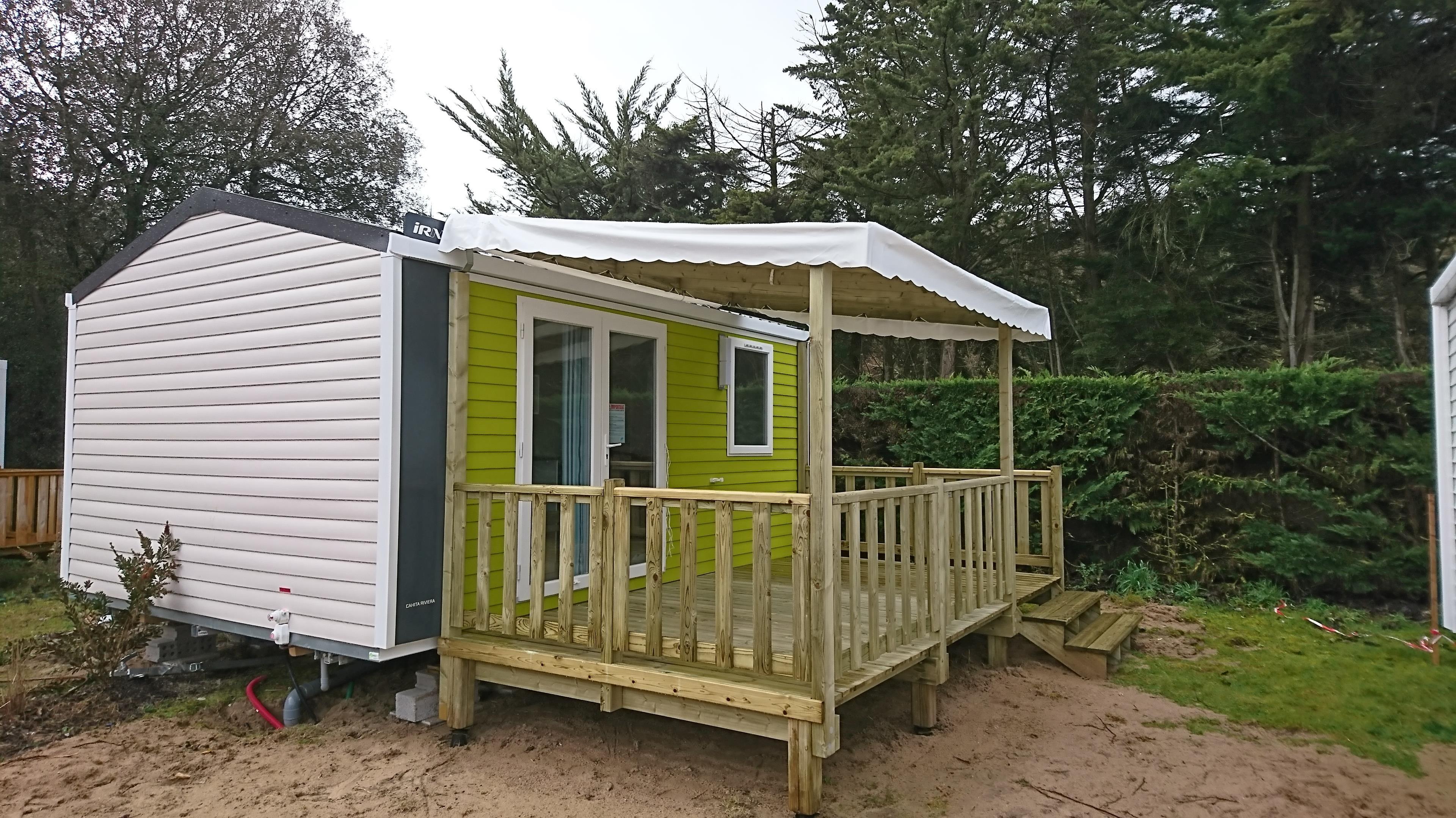 Terrasse Zenidea - 7.50x2.50m - Couverte - 3 850€ - Zen Mobil homes