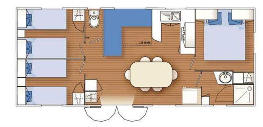 Louisiane Flores 3 - Mobil home d'Occasion - 10 000€ - Zen Mobil homes