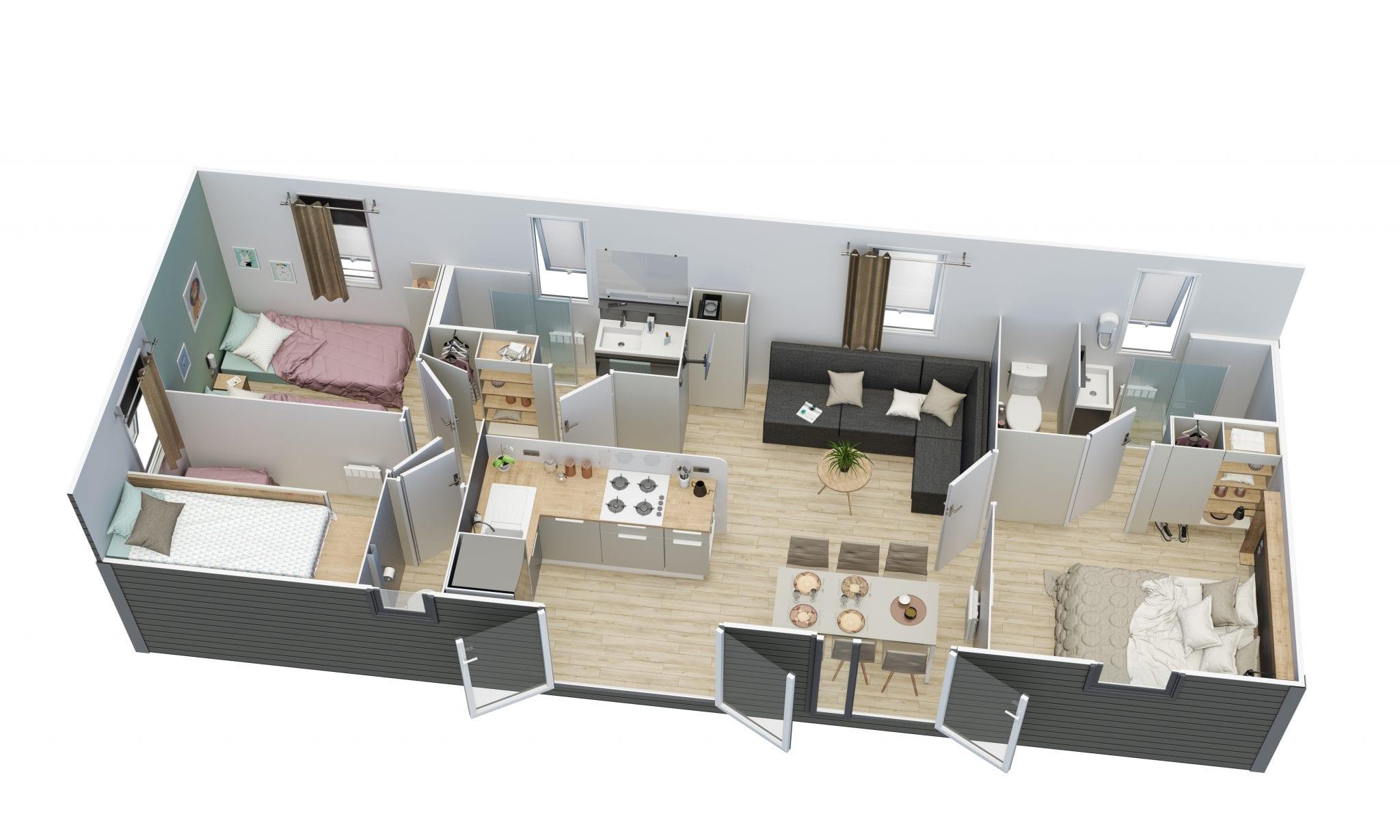 Ohara 1064 - 2018 - Mobil home neuf - 29 900€ - Zen Mobil homes