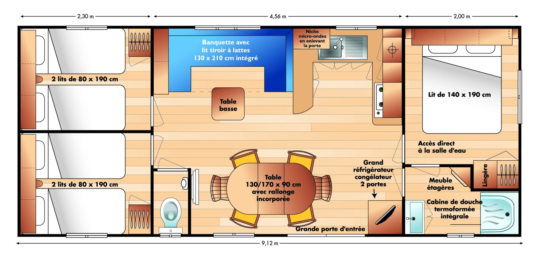 Irm Super Octalia - 2007 - Mobil home d'occ - 11 500€ - Zen Mobil homes