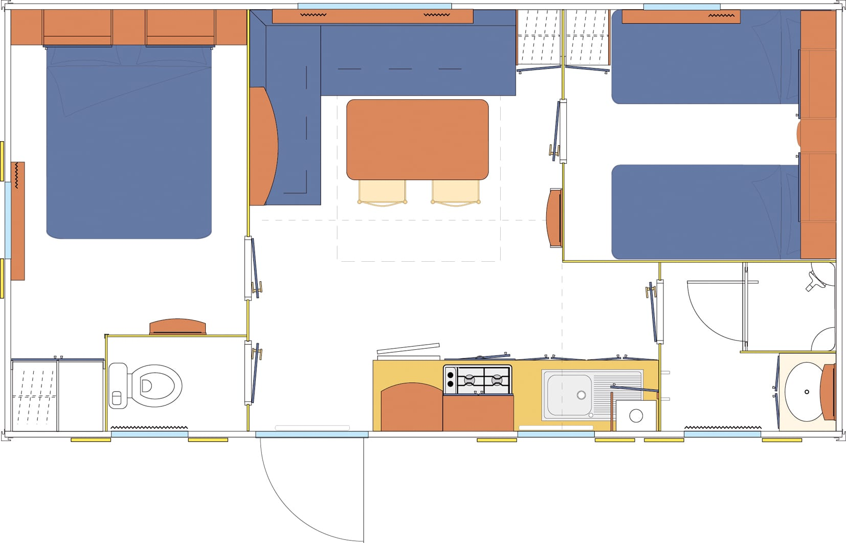 Ohara 7.34 - 2003 - Mobil home d'occasion - 5 000€ - Zen Mobil homes