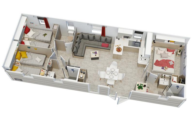 Irm Violette - 2020 - Mobil home Neuf - 35 500€ - Zen Mobil homes