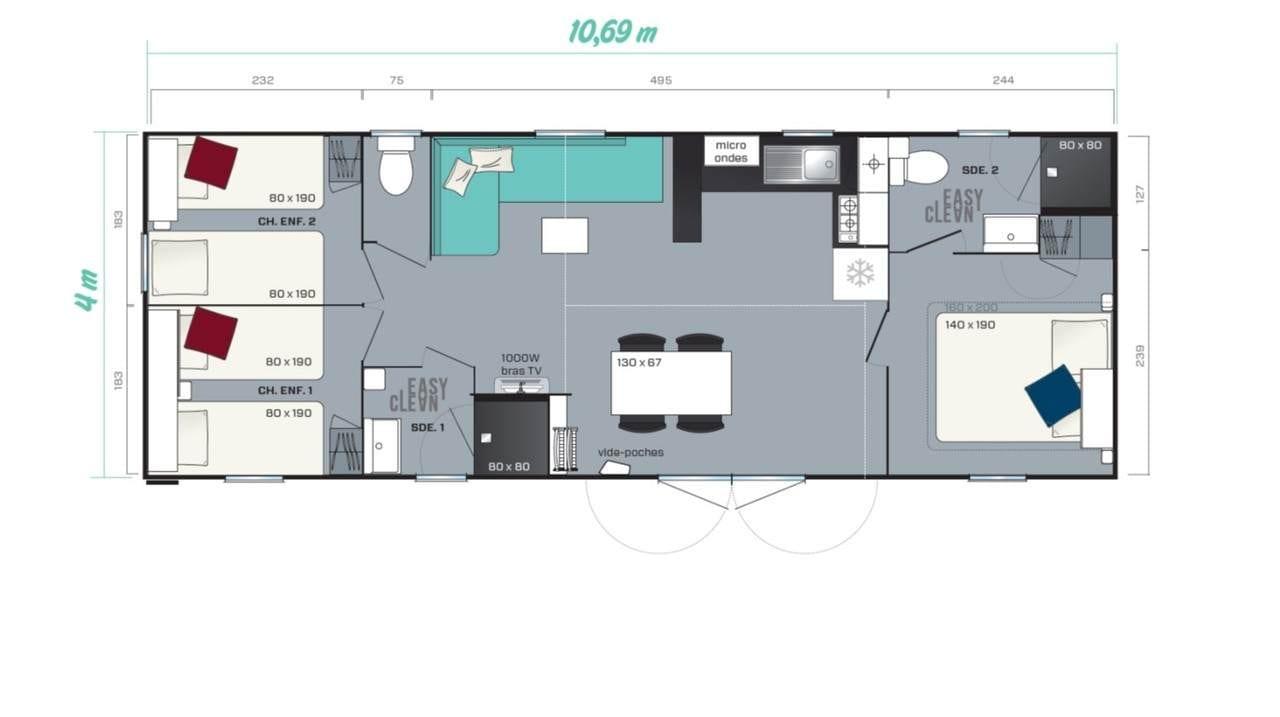 IRM AQUA 3 - 2020 - Mobil Home Neuf - 3 Chambres - Zen Mobil homes