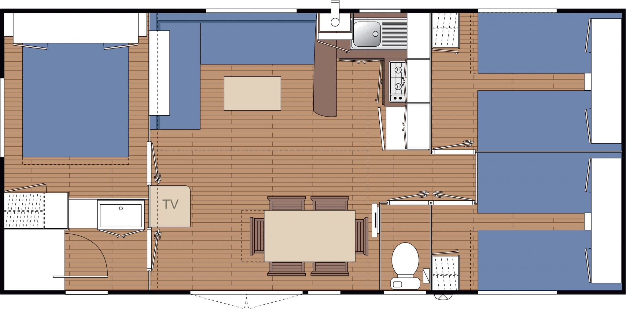 Ohara 8.34 830 - 2006 - Mobil home d'occasion - 8 500€ - Zen Mobil home