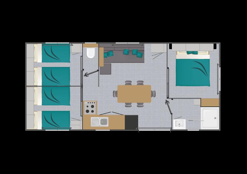 Louisiane Tamaris - Mobil home Neuf - Vacance - Zen Mobil homes
